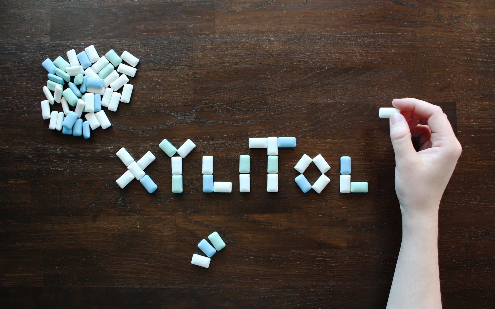 Xylitol Spelled Out In Gum